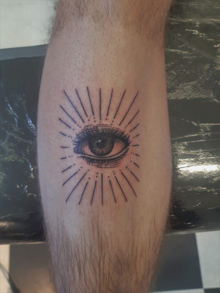 blackwork eye tattoo from our studio in Rotterdam.