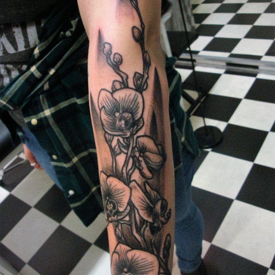 Tattoo orchidee at Inkfish tattoostudio