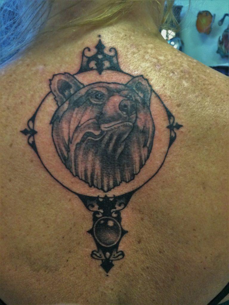 lady bear tattoo Inkfish studio