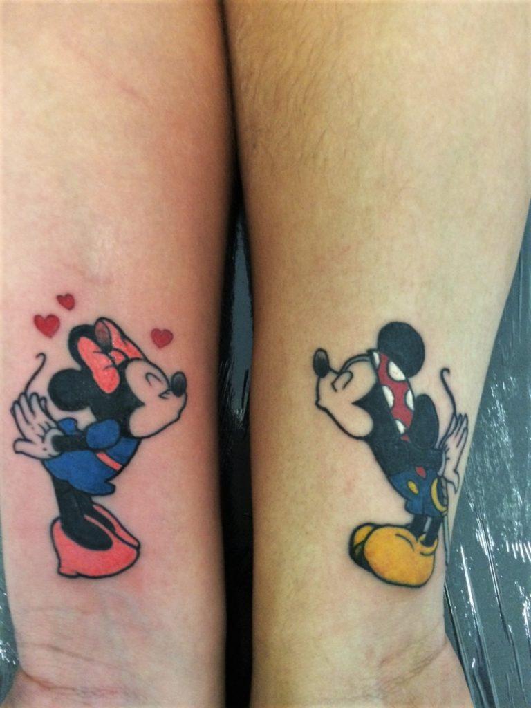 mickey minnie tattoo disney.