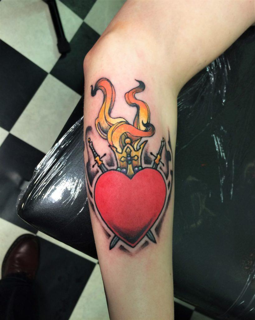 heilig hart tattoo by inkfish tattooshop rotterdam